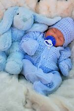 REBORN LIFELIKE BABY BOY IN SPANISH KNITTED SET FULL LIMBS 017 - BUTTERFLY BABY