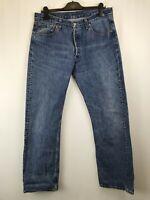 LEVIS men's jeans blue regular straight button fly W34 L32 003