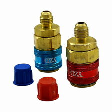 A/C 134A Quick Connector Adapter Coupler High/Low Pressure Side Manifold Gauge
