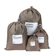 4pcs/set Travel Waterproof Shoe Pouch Storage Portable Drawstring Bags Organizer