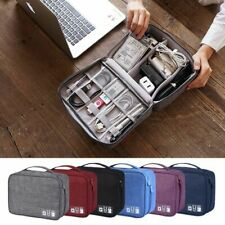 Portable Cable USB Gadgets Wires Charger Power Battery Zipper Cosmetic Bag