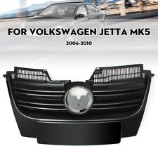 FOR 2006-2010 VW MK5 JETTA GTI FRONT UPPER CENTER BUMPER GRILLE GRILL BLACK ABS