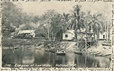 HONDURAS CUYAMEL FRUIT CO RAILROAD WITH TRAIN REAL PHOTO POSTCARD