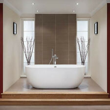 bath free standing oval freestanding bath tub small 1550mm double ended 4mm dual skin acrylic white buy baths ebay