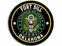 "4"" ARMY FORT SILL OKLAHOMA HELMET  CAR BUMPER STICKER DECAL USA MADE"