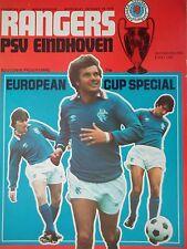 Programm EC 1978/79 Glasgow Rangers - PSV Eindhoven
