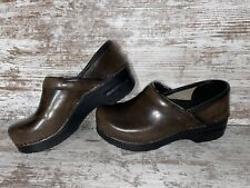 Dansko Brown Leather Slip On Danish Clogs Shoes Womens Size 37 US 6.5-7