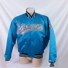 Vintage Florida Marlins Starter Satin Jacket 90s MLB Coat Bomber Coach Dugout XL
