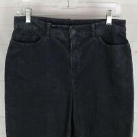 Croft & Barrow womens size 6 stretch dark gray mid rise straight corduroy pants
