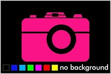 Camera Sticker Vinyl Decal Car Window Wall Decor Photography Love Canon Nikon