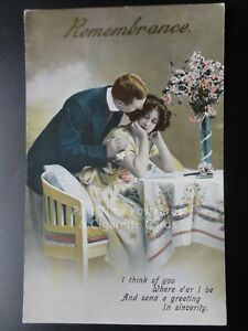 Greetings: ROMANCE - 'Remembrance' I think of you where e'er I be and send a....