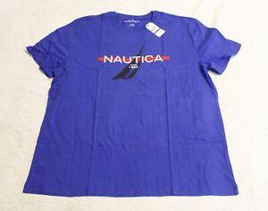 Nautica Men's 'Since 1983' Logo Sleep Tee T-Shirt CD4 Cobalt Size XL NWT