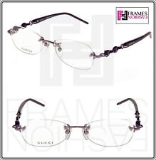 d55931e462 Gucci Chain 8557 Purple Violet Square RX Eyeglasses Optical Frame 51mm  Gg8557jo