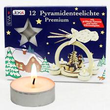 x 12 Photophore bougies en blanc pour Pyramides Grand Flamme Spécial 80110