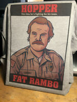 Stranger Things Fat Rambo Hopper T-Shirt - Inspired by David Harbour in Season 3