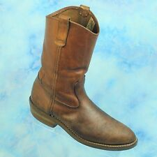 Vintage Red Wing Men's Work Cowboy Motorcycle Leather Roper Biker Boots Size 9