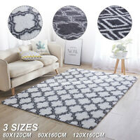 Floor Mat Rugs Shaggy Anti-Skid Area Living Room Bedroom Home Carpet Washable