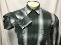 Lucky Brand Men's Green Plaid Shirt sz L Button Front 100% Cotton Long Sleeve