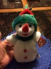 TY Beanie Baby Babies SNOW GIRL 2000 Christmas Snowman MINT Private Collection
