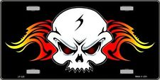 Skull | Flame Vanity Metal Novelty License Plate
