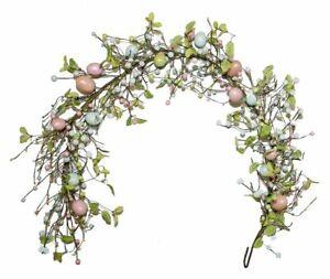 Pearlescent Glittered Easter Egg Garland Decoration