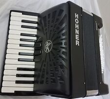 Hohner Bravo 48 Black REDESIGNED 2017 Piano Accordion Acordeon DVD,GigBag,Straps