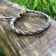 Seaside Earth Woven Hemp Anklet Bracelet