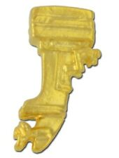 Outboard Boat Motor Lapel Pin Tac Yamaha Evinrude Mercury Gold Plated USA New