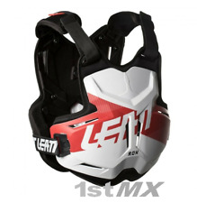 Leatt 2.5 Motocross Chest Armour Protector for Leatt Brace Rox White Red Adults