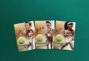 WTA Tennis cards - Halep, Osaka, Muguruza, Serena...