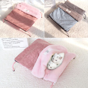 Raised Cat Bed Pet Puppy Cat Sleeping Bag Sofas House Kennel Nest Cushion Pink