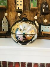 Pottery Barn Ornament Candle Pot Silver Size Large Sold Out Christmas Candlepot