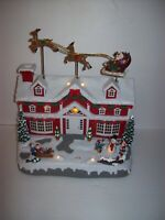 Eluceo In Motion Animated Musical Light Up Christmas House~Santa~Reindeer