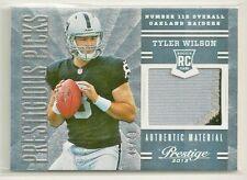 Tyler Wilson 2013 Prestige Prestigious Picks RC - PRIME 2 color Patch #'d 49/49