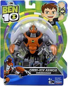 BEN 10 OMNI-KIX ARMOR HUMUNGOUSAUR FIGURE DINO BATTLER HERO CARTOON NETWORK