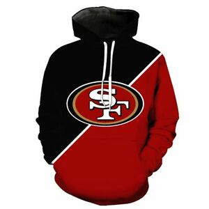 BIG SALE! SAN FRANCISCO 49ERS SF Hoodie Hooded Pullover S-5XL Football Team Fans