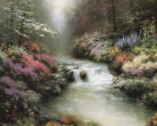 Peaceful Stream And Flowers Thomas Kinkade A Fine Art 8X10 Print