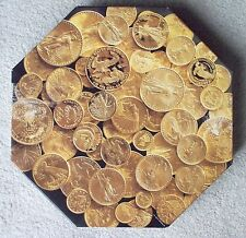Springbok Premier Jigsaw Puzzle American Gold 500 piece octagonal coins
