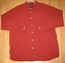 Gap Dress Shirt Extra Large Orange Relaxed Fit 100% Cotton Men's Solid Man's Top