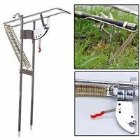 47cm Automatic Adjustable Tackle Bracket Double Spring Fishing Rod Holder Angle