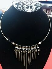 choker fashion Necklace Statement metal wire beaded