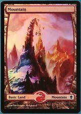 Mountain (244) FOIL Zendikar NM Extended / Full Art CARD (133100) ABUGames
