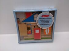 Melissa and Doug Wooden Peek-a-Boo House 12M+ (Damaged Packaging) - 14034