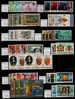 Turks and Caicos Islands 1968/92 good range of complete sets to include ' Stamps