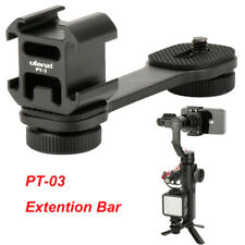 PT-3 Microphone Extension Bar 3 Cold Shoe Mounts Bracket for Canon DSLR Zhiyun