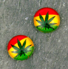 12mm Glass Cabochon Cannabis Marijuana Weed Leaves Photo GD70(5pcs)