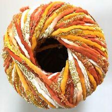 Dark Horse Yarns Allure #108 Orange Copper Gold Metallic & Matte Ribbon 100 Gram
