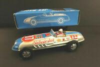 """All Original SKK Silver Jet Racing Car Racer 10"""" Tin Toy Mint + Box Japan 1960"""