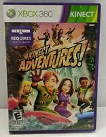 Kinect Adventures! Microsoft Xbox 360 Complete with Manual Tested and Works