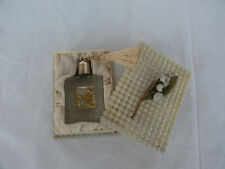 Vintage Small Empty Perfume Bottle in Plastic Box Lily of the valley  #1434